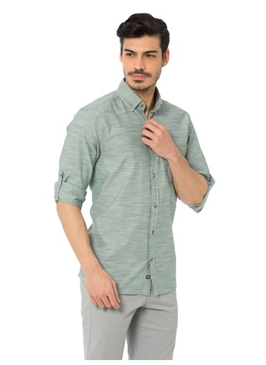 LC Waikiki Uzun Kollu Gömlek Yeşil